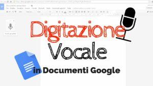 digitazione vocale google