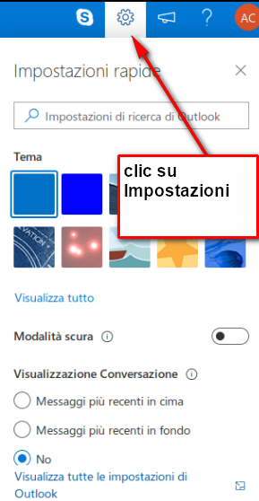 impostazioni outlook.it