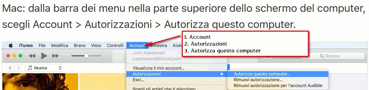 autorizza computer