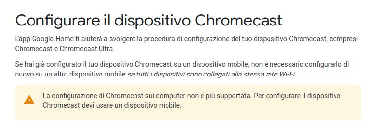 chromecast configura