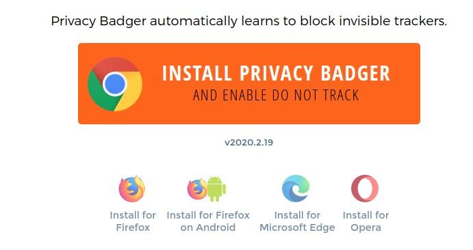 installazione privacy badger