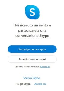 invito skype