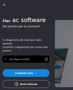 collegamento skype condiviso