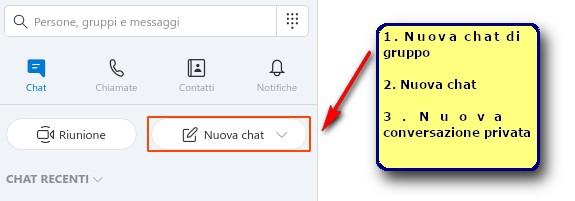 nuova chat skype